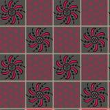 Nahtloser geometrischer Blumendruck-Entwurfshintergrund vektor abbildung