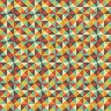 Nahtloser geometrischer Dreieck-Quadrat-Hintergrund Lizenzfreies Stockbild