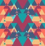 Nahtloser geometrischer Dreieckfarbmusterhintergrund Lizenzfreie Stockbilder