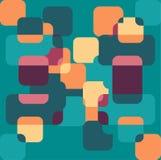 Nahtloser geometrischer Farbmusterhintergrund Stockfotos