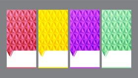 Nahtloser geometrischer Hintergrund, abstrakter Vektorhintergrund Stockfotografie