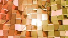 Nahtloser geometrischer Hintergrund 3d im modernen geometrischen Stil niedrig Poly mit hellen Steigungsfarben 4k säubern gelbes T lizenzfreie abbildung