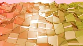 Nahtloser geometrischer Hintergrund 3d im modernen geometrischen Stil niedrig Poly mit hellen Steigungsfarben 4k säubern gelbes T stock abbildung