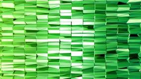 Nahtloser geometrischer Hintergrund 3d im modernen geometrischen Stil niedrig Poly mit hellen Steigungsfarben 4k säubern grünes n vektor abbildung