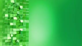 Nahtloser geometrischer Hintergrund 3d im modernen geometrischen Stil niedrig Poly mit hellen Steigungsfarben 4k säubern grünes n stock abbildung