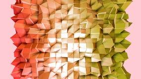 Nahtloser geometrischer Hintergrund 3d im modernen geometrischen Stil niedrig Poly mit hellen Steigungsfarben 4k säubern rotes or vektor abbildung