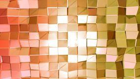 Nahtloser geometrischer Hintergrund 3d im modernen geometrischen Stil niedrig Poly mit hellen Steigungsfarben 4k säubern rotes or stock abbildung