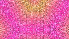 Nahtloser geometrischer Hintergrund 3d im modernen geometrischen Stil niedrig Poly mit hellen Steigungsfarben 4k säubern rotes ni lizenzfreie abbildung