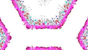 Nahtloser geometrischer Hintergrund 3d im modernen geometrischen Stil niedrig Poly mit hellen Steigungsfarben 4k säubern Tief des lizenzfreie abbildung