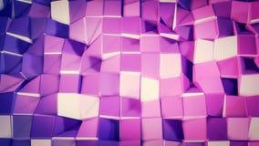 Nahtloser geometrischer Hintergrund 3d im modernen geometrischen Stil niedrig Poly mit hellen Steigungsfarben 4k säubern violette lizenzfreie abbildung