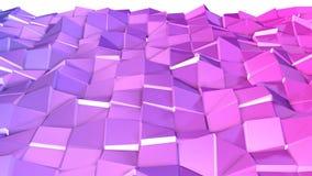 Nahtloser geometrischer Hintergrund 3d im modernen geometrischen Stil niedrig Poly mit hellen Steigungsfarben 4k säubern violette vektor abbildung