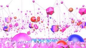 Nahtloser geometrischer Hintergrund 3d im modernen geometrischen Stil niedrig Poly mit hellen Steigungsfarben rotes sauberes nied lizenzfreie abbildung
