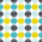 Nahtloser geometrischer Kreis punktiert Hintergrund lizenzfreie abbildung
