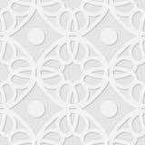 Nahtloser geometrischer Musterhintergrund des Vektors 3d Stockbilder