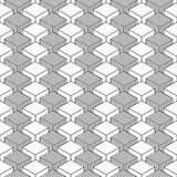 Nahtloser geometrischer Musterweinlesehintergrund lizenzfreie abbildung