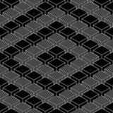 Nahtloser geometrischer Musterweinlesehintergrund vektor abbildung
