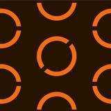 Nahtloser geometrischer orange Hintergrund Auch im corel abgehobenen Betrag stock abbildung