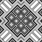 Nahtloser geometrischer Schwarzweiss-Hintergrund Lizenzfreies Stockbild