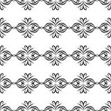 NAHTLOSER GEOMETRISCHER SCHWARZWEISS-RÜTTLER, HINTERGRUND-DESIGN abstrakter Hintergrund Wiederholen und editable Kann für Druck v Lizenzfreies Stockfoto
