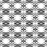NAHTLOSER GEOMETRISCHER SCHWARZWEISS-RÜTTLER, HINTERGRUND-DESIGN abstrakter Hintergrund Wiederholen und editable Kann für Druck v lizenzfreie stockfotos