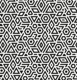 Nahtloser geometrischer Vektormusterhintergrund Stockbild