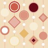 Nahtloser geometrischer Vektormusterhintergrund Lizenzfreie Stockbilder