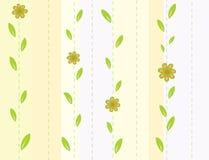 Nahtloser gestreifter Hintergrund mit Blumen vektor abbildung