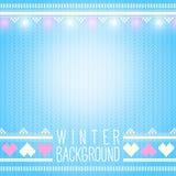 Nahtloser gestrickter Winterhintergrund mit Feiertagselementen. Kann sein Lizenzfreies Stockbild