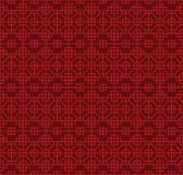Nahtloser GitterquadratAchteckgeometrie-Musterhintergrund der chinesischen Art Lizenzfreies Stockbild