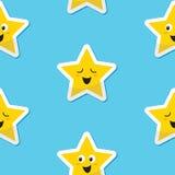 Nahtloser glücklicher Sternhintergrund für Kinder lizenzfreie abbildung