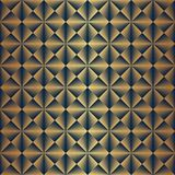 Nahtloser Gold- und Schwarzes Art Deco-Musterhintergrund lizenzfreie abbildung