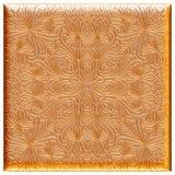 Nahtloser goldener Blumenluxushintergrund Lizenzfreie Stockfotografie