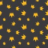 Nahtloser goldener Kronen-Hintergrund Lizenzfreie Stockfotografie