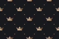 Nahtloser Goldrüttler und -könig krönen mit Diamanten Lizenzfreies Stockfoto