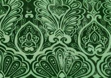 Nahtloser grüner Blumenhintergrund Lizenzfreie Stockfotografie