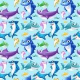 Nahtloser Haifisch Stockbild