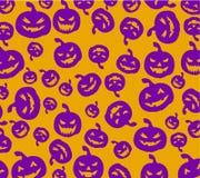 Nahtloser Halloween-Kürbishintergrund Lizenzfreies Stockbild