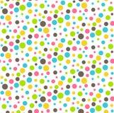 Nahtloser heller abstrakter Dots Chaos Pattern Stockfoto