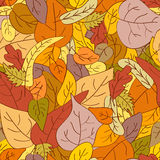 Nahtloser Herbsthintergrund Stockbilder
