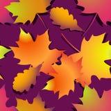 Nahtloser Herbsthintergrund mit Blättern stock abbildung