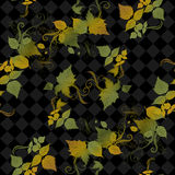 Nahtloser Herbstlaub Stockbilder