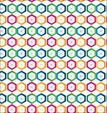 Nahtloser Hexagonformhintergrund Lizenzfreies Stockfoto