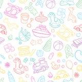 Nahtloser Hintergrund, Beschaffenheit, Hintergrund, Muster, Tapete mit Kinderkarikaturgekritzel spielt Lernspiele für Kinder Lizenzfreie Stockbilder