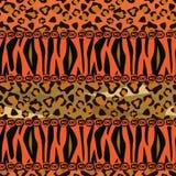 Nahtloser Hintergrund der afrikanischen Art Stockfotos