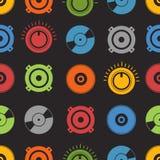 Nahtloser Hintergrund der Audiogeräte Stockbild