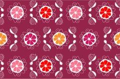 Nahtloser Hintergrund der Blume lizenzfreie abbildung