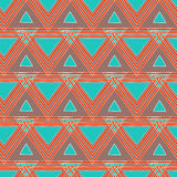 Nahtloser Hintergrund der ethnischen Dreiecke Lizenzfreie Stockbilder