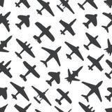 Nahtloser Hintergrund der Flugzeuge und der Jets Stockfotografie