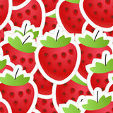 Nahtloser Hintergrund der frischen roten Erdbeere Lizenzfreies Stockbild
