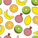 Nahtloser Hintergrund der Frucht. Stockbild